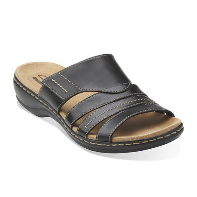 Clarks leisa grove leather sandals wide
