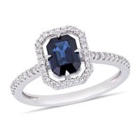 Modern Bride Gemstone Womens 1/4 CT. T.W. Genuine Blue ...