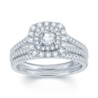 Modern Bride Signature 1 CT TW Diamond 14K White Gold ...