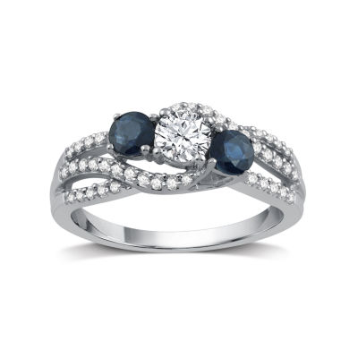 I Said Yes Womens 5/8 CT. T.W. White Diamond Platinaire