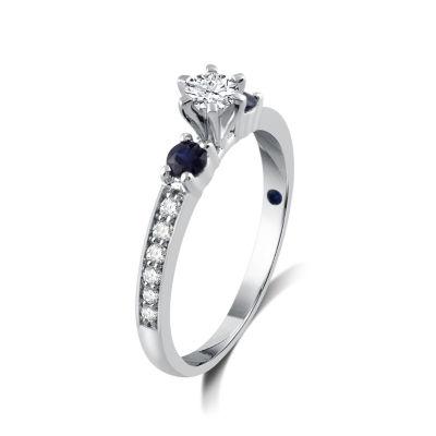 I Said Yes Womens 1/5 CT. T.W. Round White Diamond