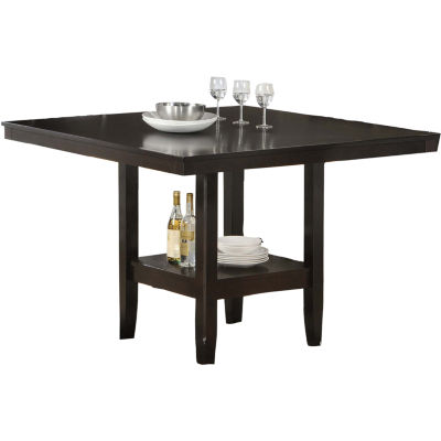Square Dining Table With Storage Tabacon 50 Quot Counter Height Square Dining Table With Wine