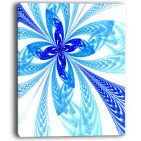 Design Art Blue Long Petal Fractal Flower Floral Art ...