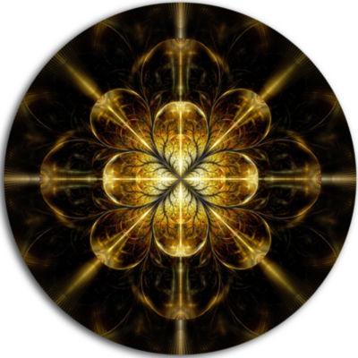 Designart Gold Symmetrical Large Fractal Flower Floral