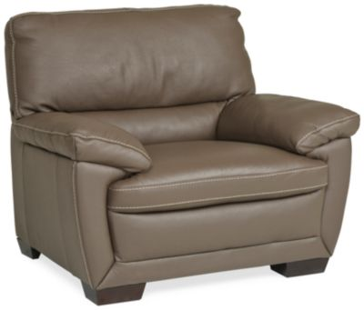 Sessel Taupe Denver Leather Chair - Dark Taupe | Star Furniture