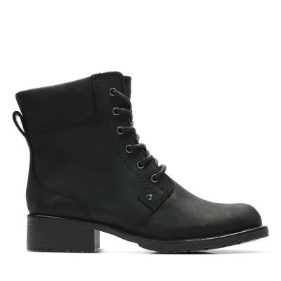 Orinoco Spice Black Lace Up Boots Clarks