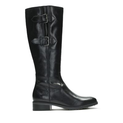Tamro Spice Black Leather Women39s Knee High Boots