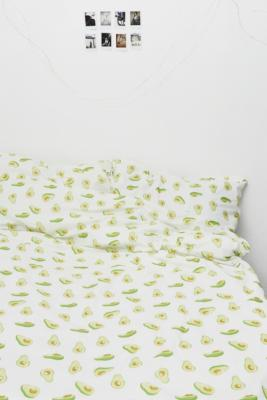 Urban Outfitters Bettwäsche Avocado Print Duvet Set