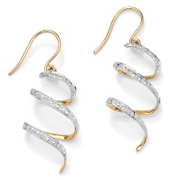 PalmBeach Jewelry Diamond Accent 10k Yellow Gold Ribbon ...