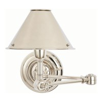 Anette Swing Arm Sconce in Polished Nickel - Lighting ...