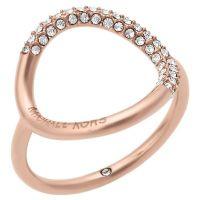 Michael Kors Rose Gold Tone Stone Set Ring - Ernest Jones