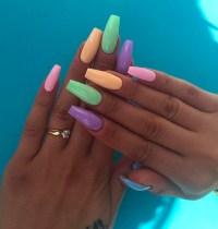 beauty, cute nails, fashion, girl, girly, pastel nails ...