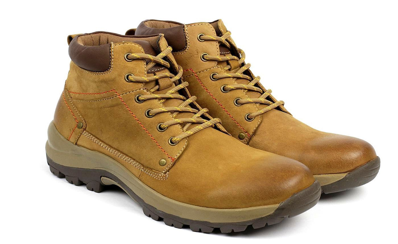 New Mens Lace Up Leather Hiking Biker Walking Combat Work