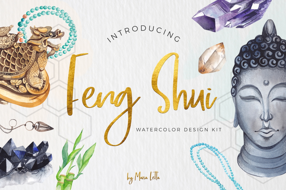 Feng Shui Watercolor Design Kit Design Cuts