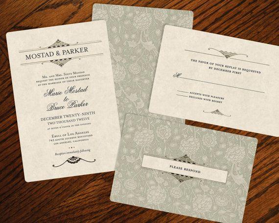 Vintage Wedding Invitations - Rustic Wedding Chic