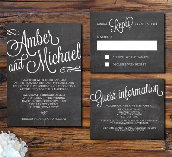 New Rustic Wedding Invitation Trends - Rustic Wedding Chic - rustic wedding invitation