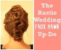 Rustic Wedding Hair Up Do - Rustic Wedding Chic