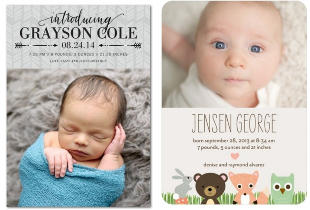 Rustic Baby Boy Birth Announcements - Rustic Baby Chic