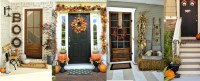 Fall Front Door Decoration Ideas - Rustic Baby Chic
