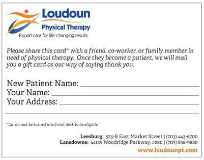 Referral/Testimonial Forms - Leesburg, VA  Lansdowne, VA Loudoun