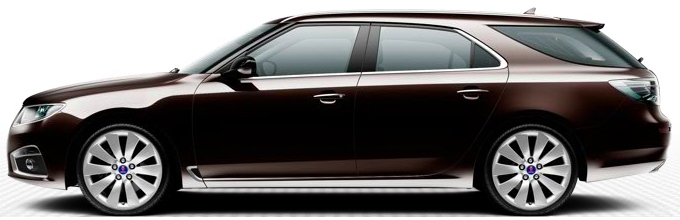 Saab 9-5 SportCombi, Java Brown