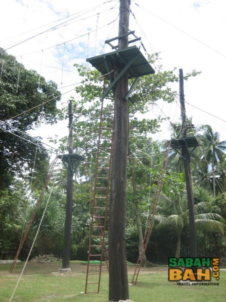 High ropes course at KK Adventure Park