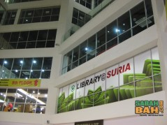 The library in Suria Sabah Mall in Kota Kinabalu