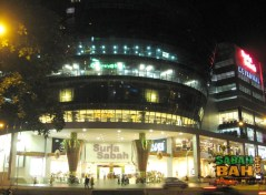 The Salad Bowl of Suria Sabah Mall in Kota Kinabalu at night