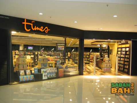 Times Bookstore - one of the bigger ones on Kota Kinabalu, even bigger than 1borneo