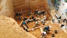 Yacimiento de la cueva del Paleolítico Inferior Gran Dolina, de la Sierra de Atapuerca (Burgos). / SINC.