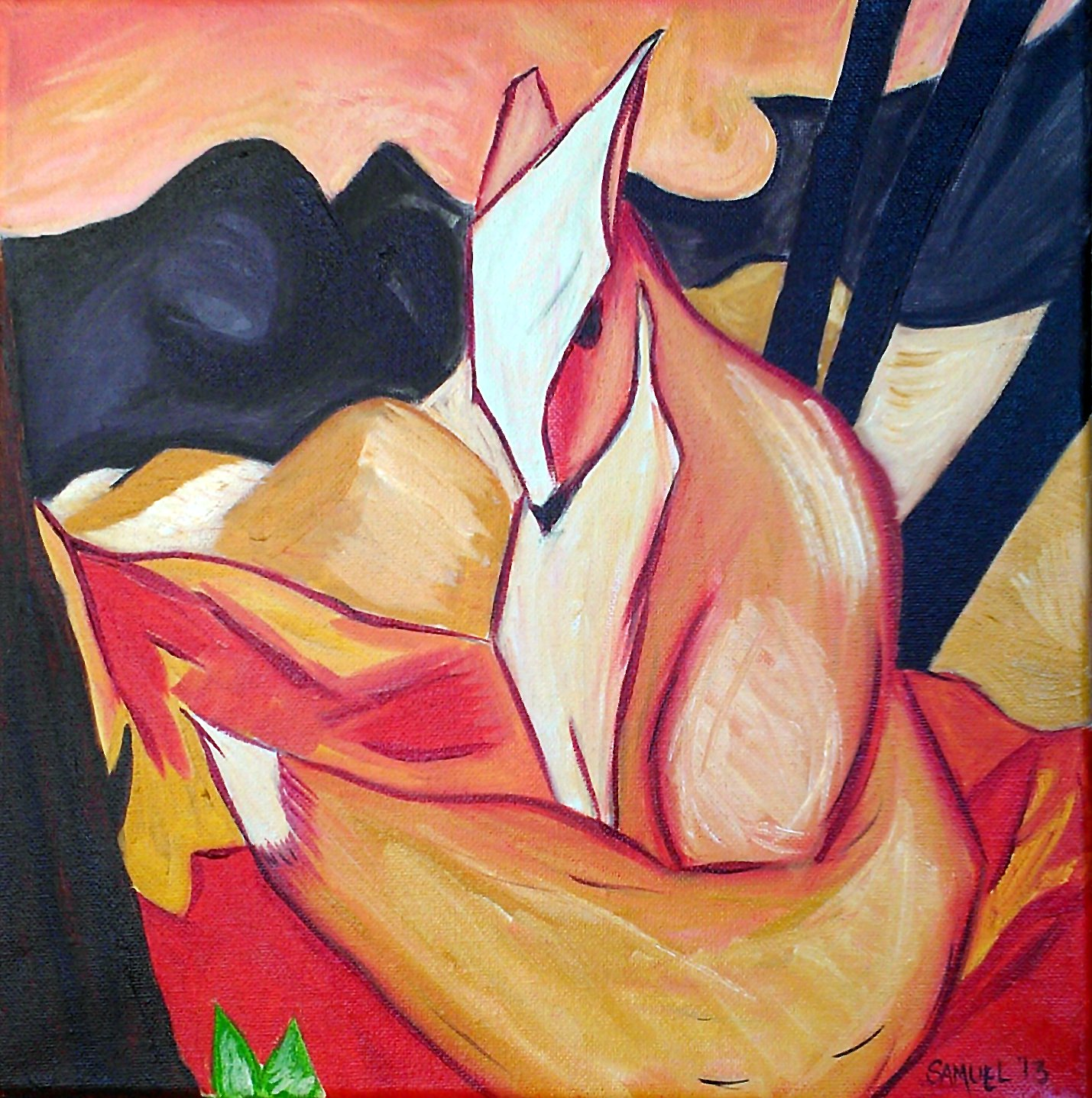 Abstract Fox Art Abstract Fox Art