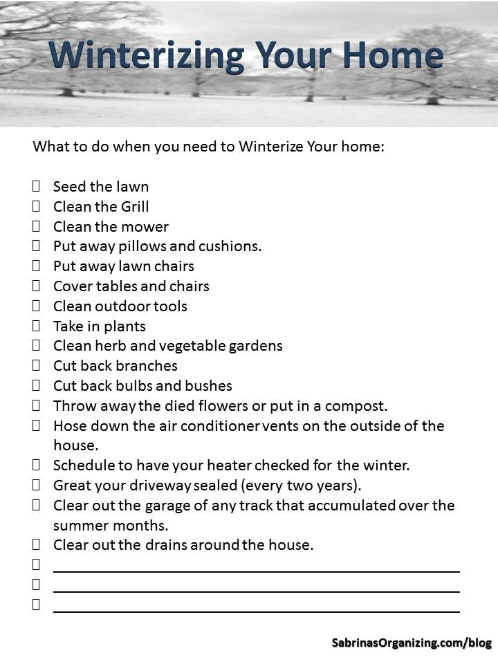 How to Create a Winterizing Your Home Checklist Sabrina\u0027s Organizing
