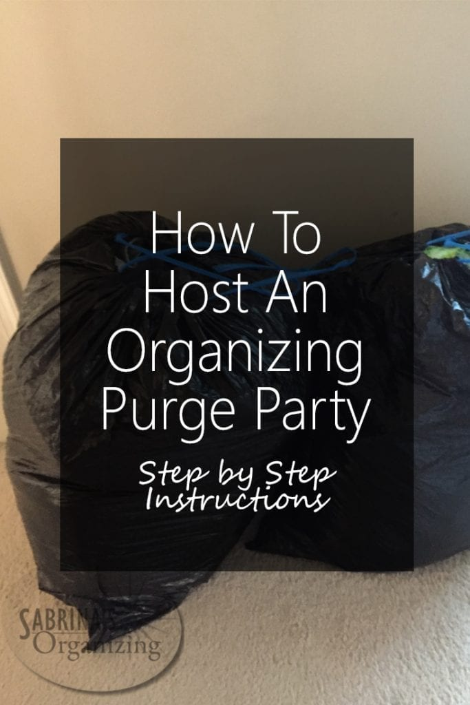 No Closet Space Solutions How To Host An Organizing Purge Party - Step By Step
