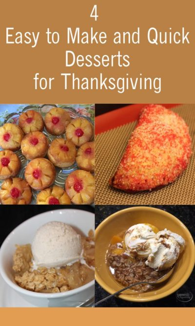 4 Easy to Make and Quick Desserts for Thanksgiving   Sabrina's Organizing