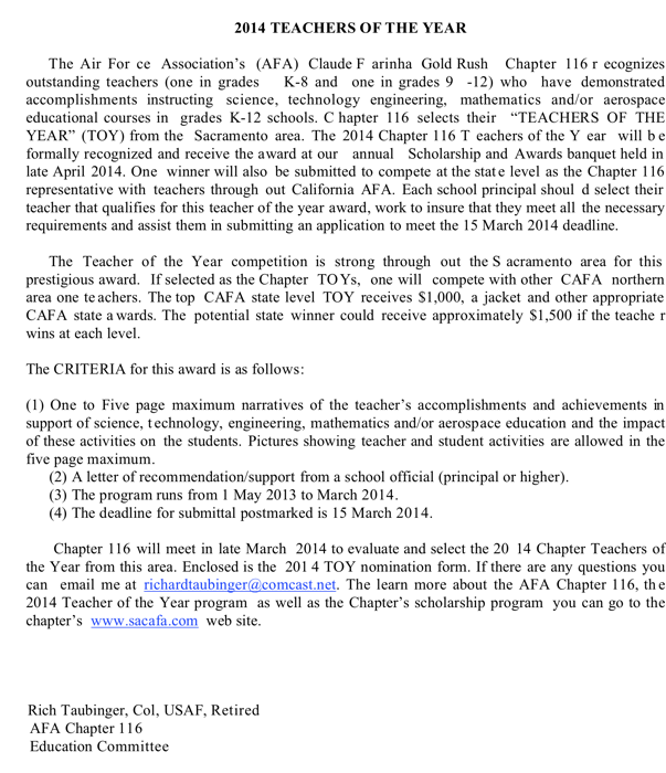 """Free Educational Articles Education Search Results For """"teacher Of Year Recommendation Letter"""