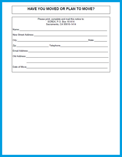 printable address change form - 28 images - name and address - address change form template
