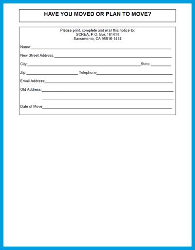 Address Change Form Template - staruptalent -