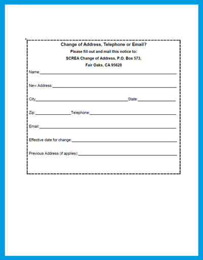 Official Change Of Address Form 7+ social security change of - official change of address form