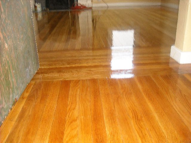 Before And After Hardwood Floor Refinishing High Grade