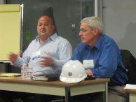 Township 9 developer Steve Goodwin, left, and California Lottery Deputy Director Terry Murphy, right.