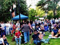 The crowd at Cesar Chavez park