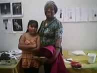 Jasmin Vargas (age 8) with Donna Blevins