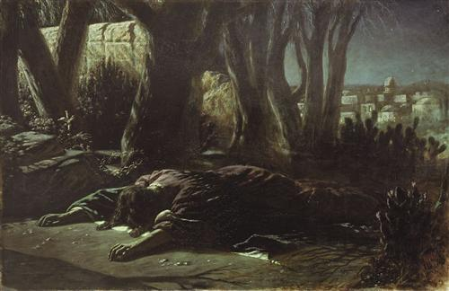 Christ in Gethsemane, Vasily Perov