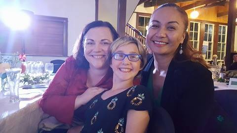 Three activists: Labour Party candidate at the recent election, Rachel Boyack; Jessica Tuhua; Green Party MP Mārama Davidson.