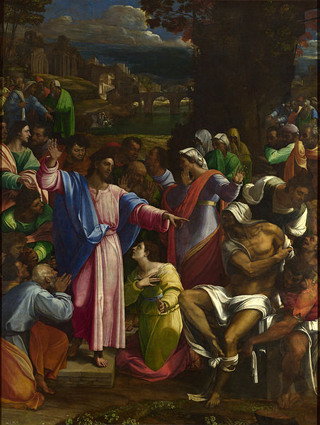 Sebastiano del Piombo, The Raising of Lazarus, Lent with Kids Week 5, Jesus is in charge of life and death | Sacraparental.com
