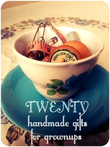 20 handmade gifts for grown-ups - such a cool collection | Lulastic and the Hippyshake