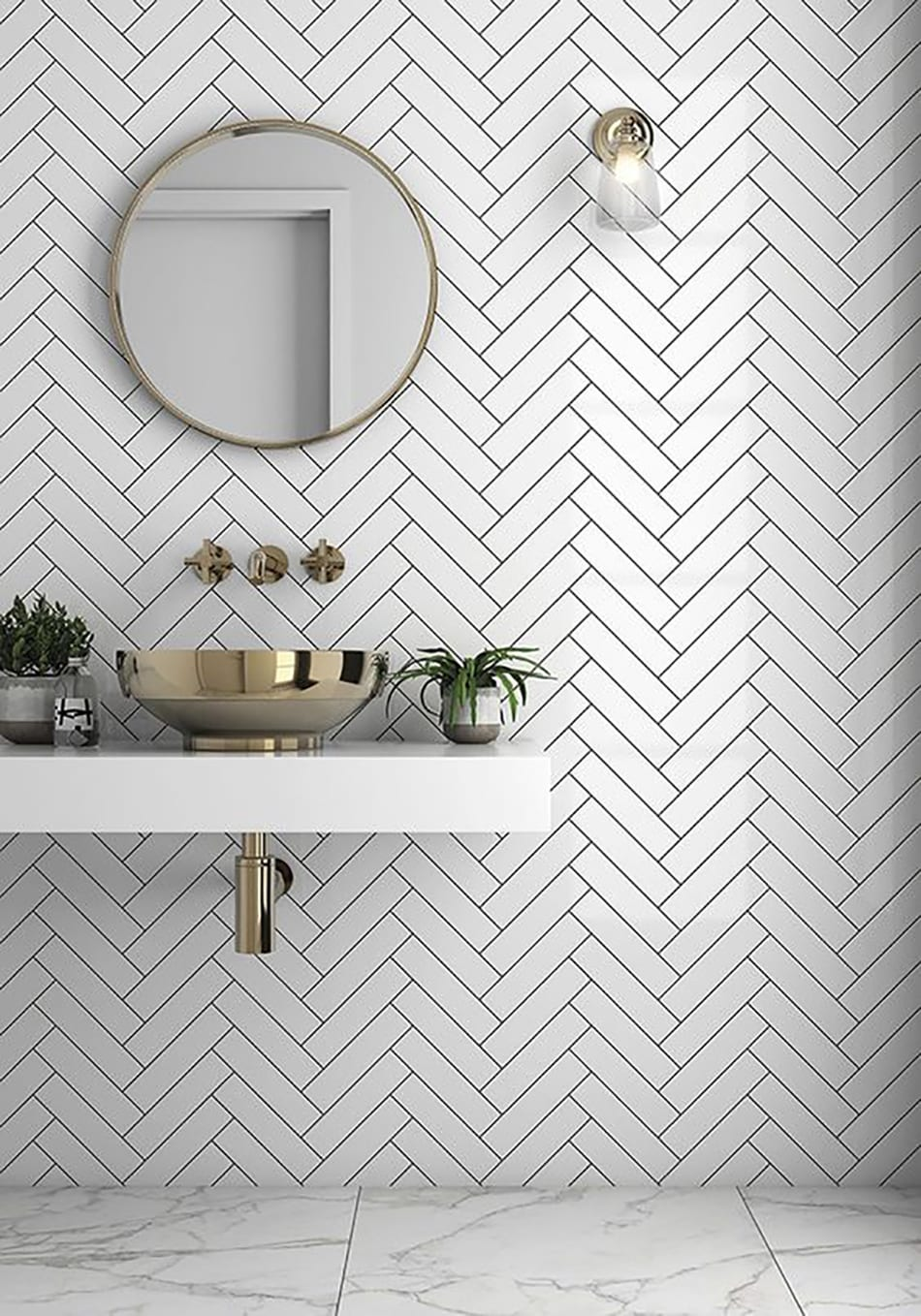 The Tile House Inspired Bathroom Ideas With Chevron Tiles Sa Decor Design