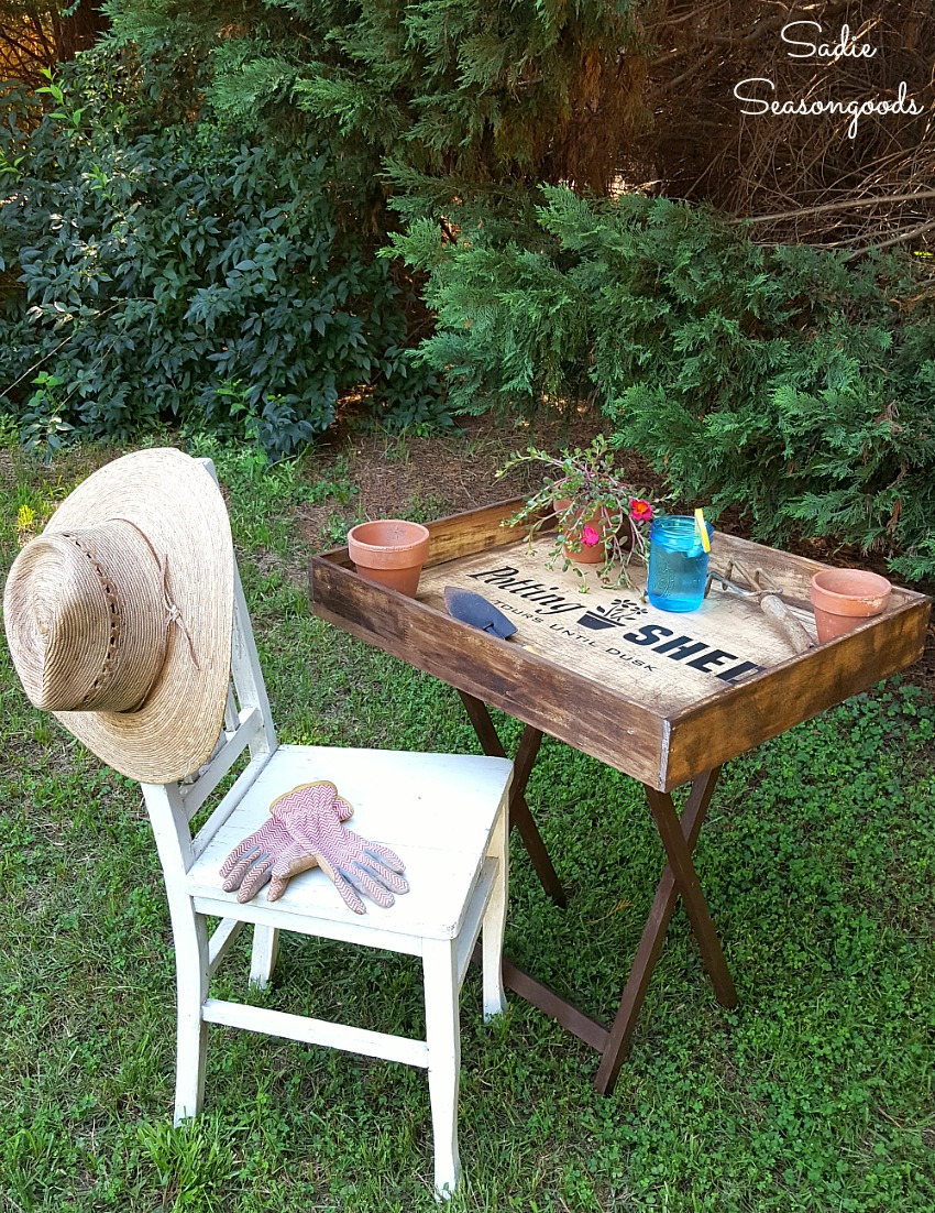 Planting Tables For Sale How To Build A Potting Bench That Is Portable For A Small Yard