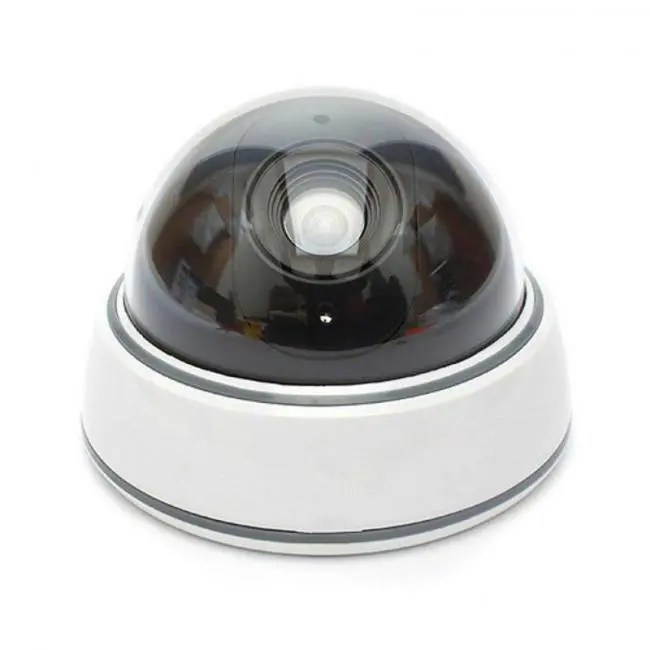 Cctv Home Home Family Outdoor Cctv Camera Fake Dummy Camera Surveillance Security Dome Mini Dummy Camera With Led Light White