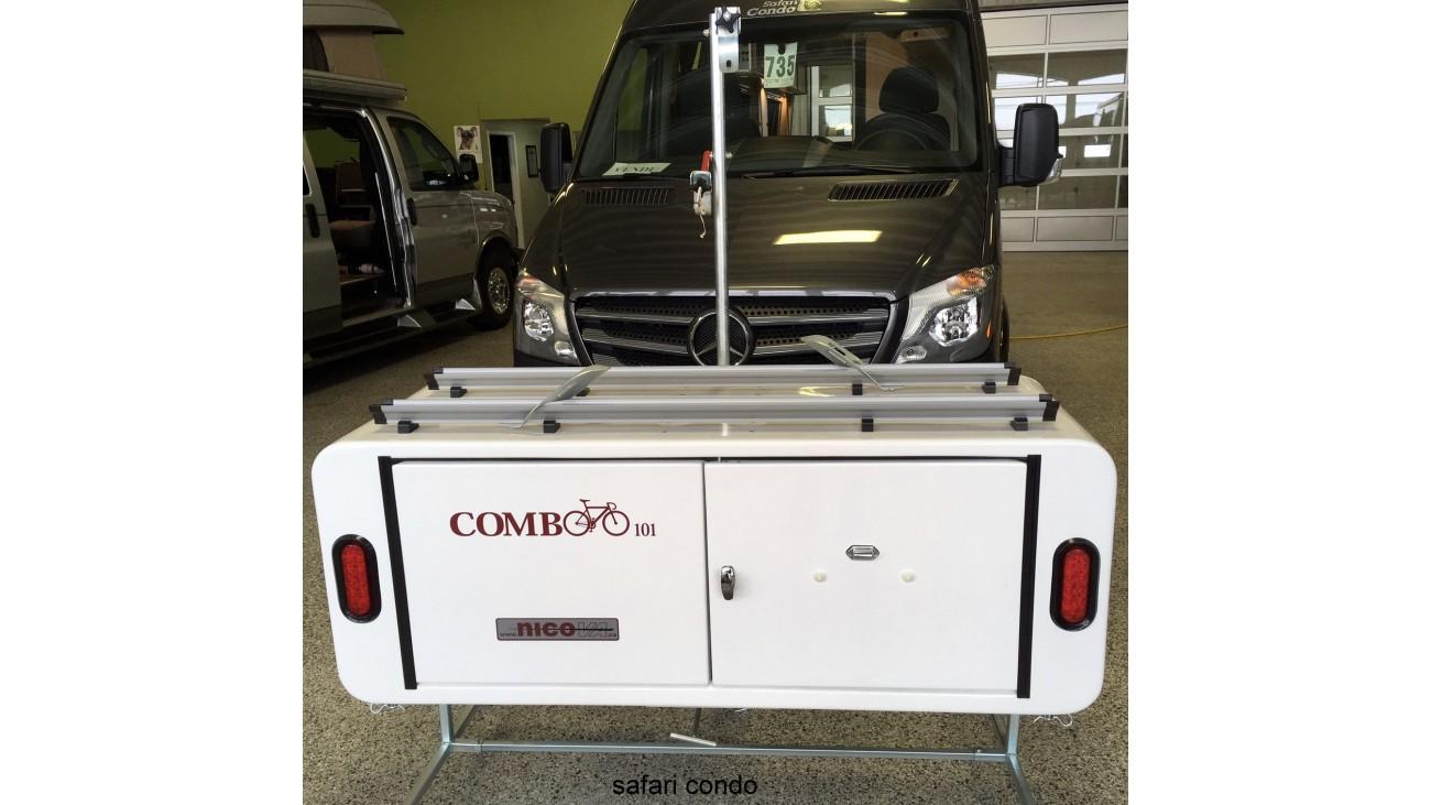 15 Ft3 Swivel Aluminium Cargo Box With Integrated Bike Rack